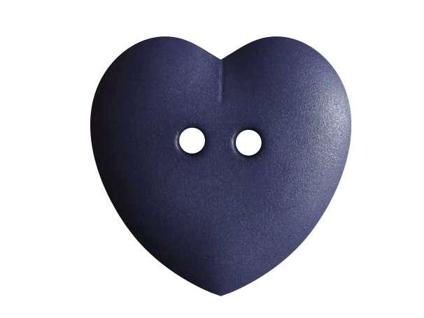 Knopf Herz 23mm - blau