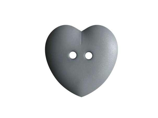 Knopf Herz 15mm - grau