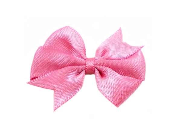 Satin Doppelschleife - 40 mm - pink