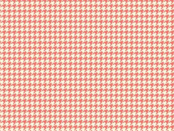 Baumwolle Stoff coral - Trendsetter Houndstooth