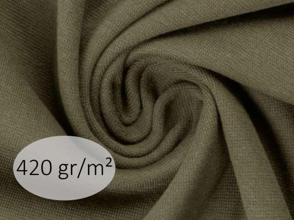 Bündchenstoff - ANTJE 420 gr. - olivgrün
