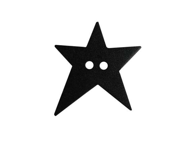 Knopf Stern 15mm - schwarz