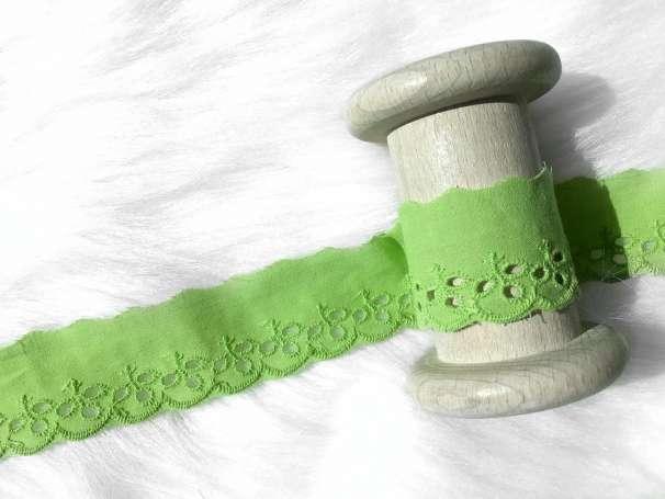 Lochstickerei Spitze - 30 mm - grün