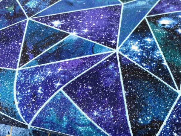 Baumwolle Stoff - Magical Galaxy - Fractured Twilight Glitter