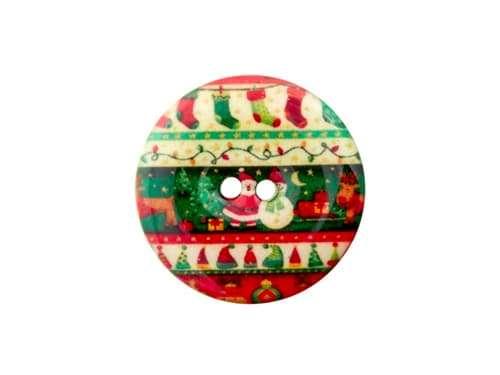 Knopf Weihnachten - 23 mm - Weihnachtszeit