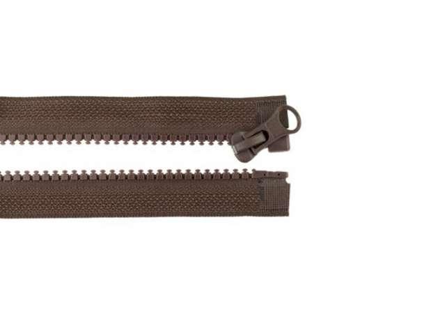 Teilbarer Reißverschluss - 75 cm - braun