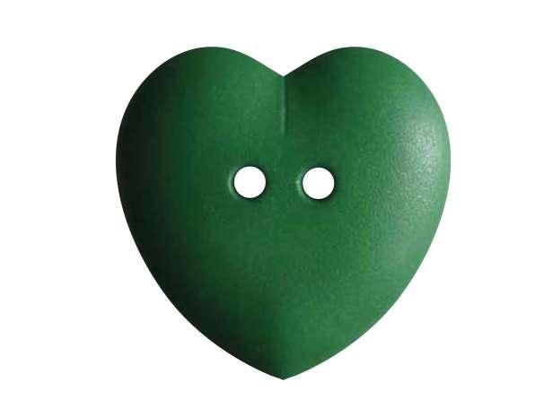 Knopf Herz 23mm - grün