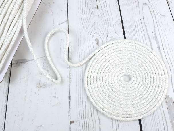 Glitzerkordel Weiß 10mm 2€//m