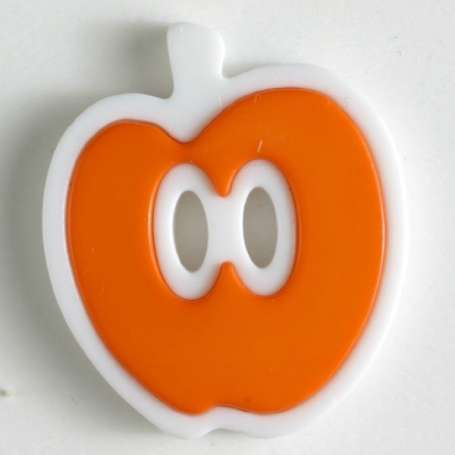 Knopf Apfel 25mm - orange