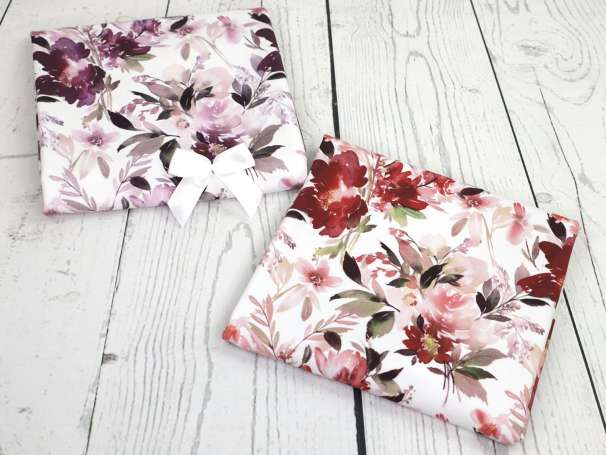 Jersey Stoff - Dreamy Florals - lila,schlamm