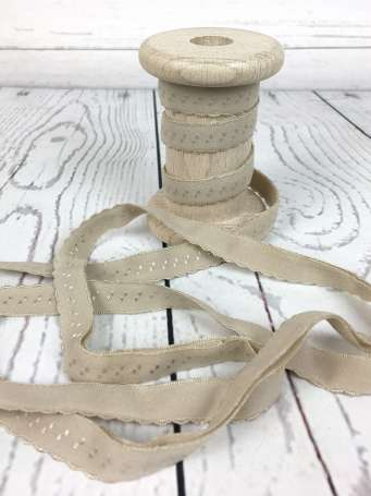 Elastisches Einfassband - beige