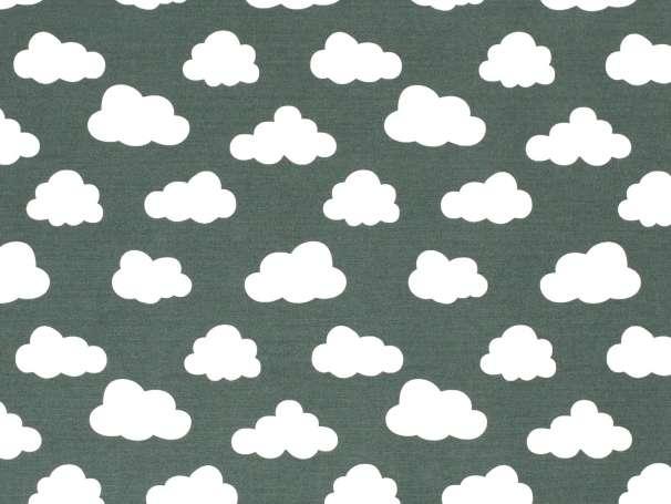 Canvas - Wolken - dunkelgrün