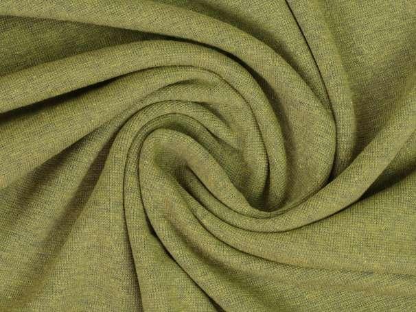 Bündchenstoff - anthrazit melange - gelbgrün
