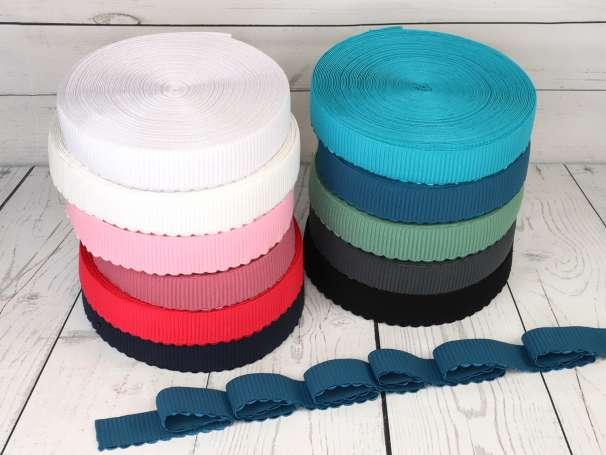 Gummiband - Bogenkante - 4cm - Alle Farben