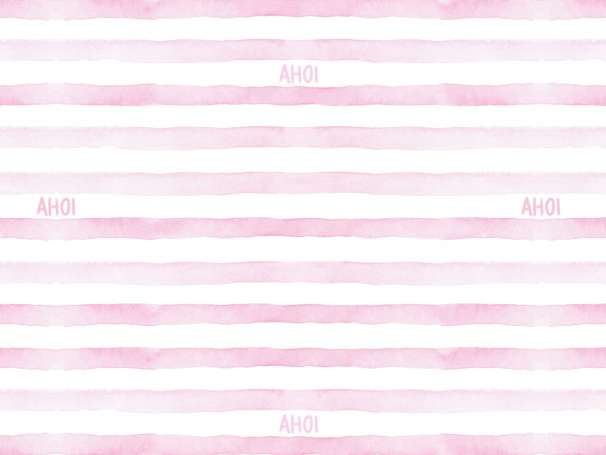 Jersey Stoff - Watercolor Stripes AHOI - rosa