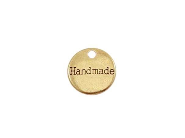 Anhänger 14mm - Handmade - bronze