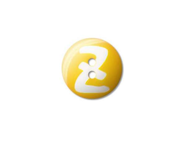 Buchstaben Knopf - 15 mm - Z