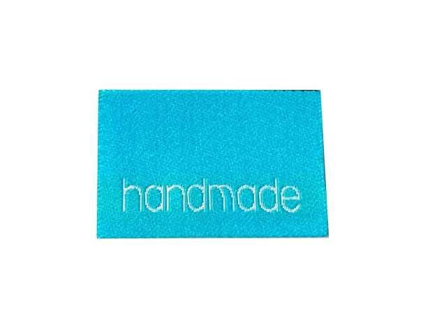Webetikett Label - Handmade Sterne, türkis