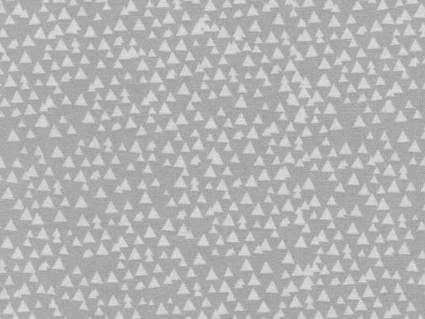 Baumwolle Stoff - Tonal Triangles Silver