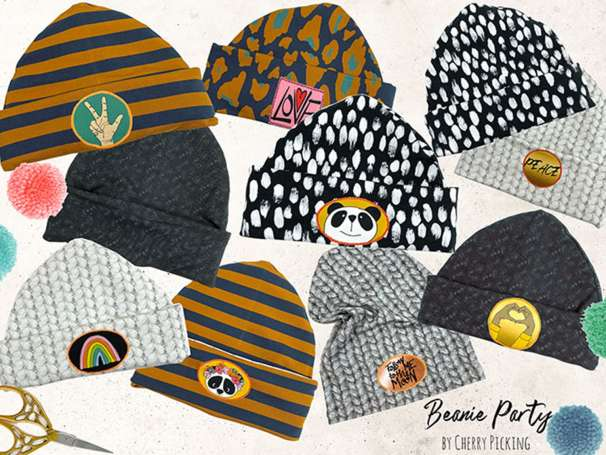 Modal French Terry - PANEL Beanie Party DIY Set