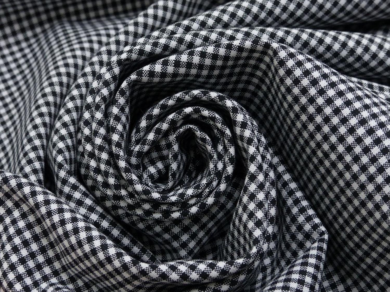 baumwolle stoff schwarz wei klein kariert online kaufen kathi kunterbunt. Black Bedroom Furniture Sets. Home Design Ideas