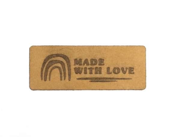 SnaPpap Label - Regenbogen, Made with Love