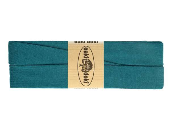 3m Jersey Schrägband - Viskose - 211 petrolblau