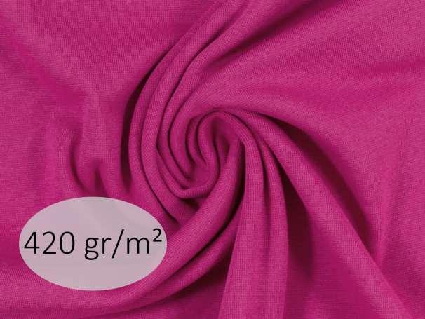 Bündchenstoff - ANTJE 420 gr. - pink