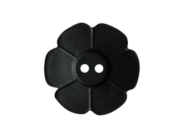 Knopf Blümchen 15mm - schwarz