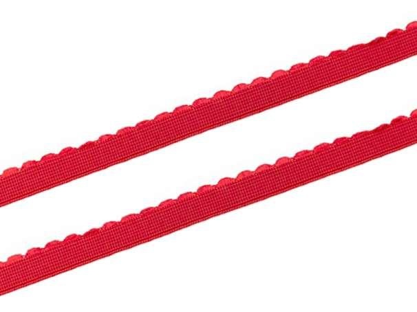 Gummiband - Bogenkante schmal - 12mm - rot
