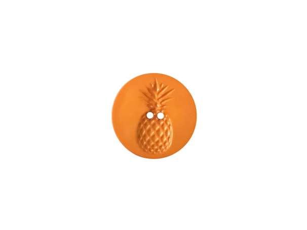 Knopf - 18 mm - Relief in Ananasform, orange