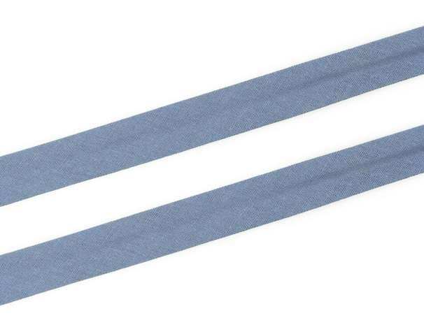 Schrägband Baumwolle - 20 mm - jeansblau