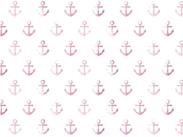 Jersey Stoff - Watercolor Anchor - rosa