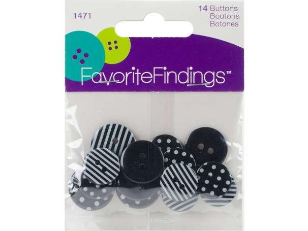 FavoriteFindings - 14 Stück - schwarz / weiß