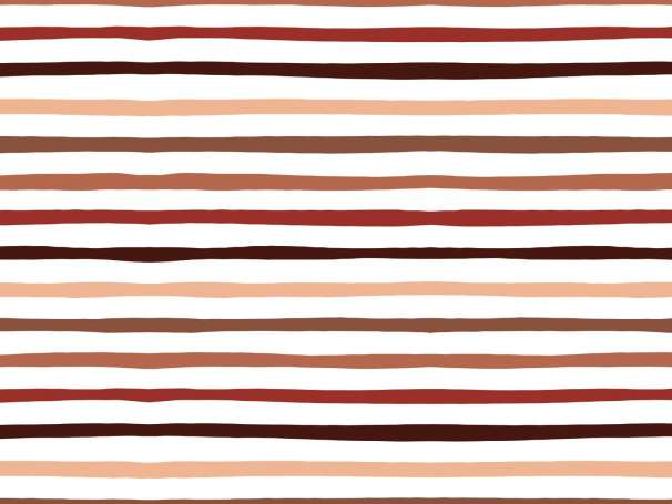 Jersey Stoff - Doodle Stripes - braun