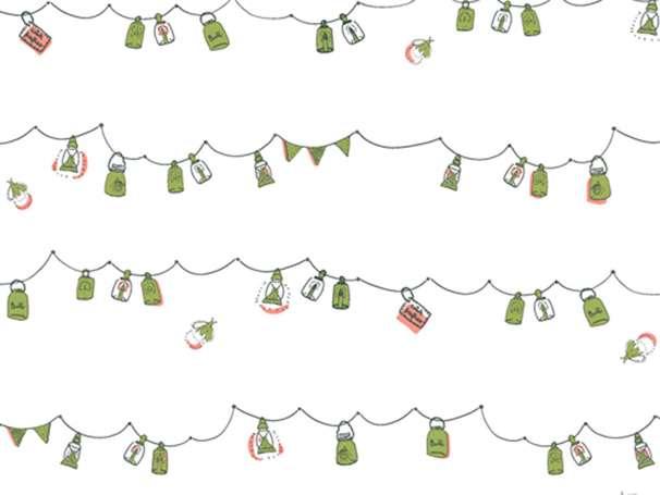 Baumwolle Stoff - Dew & Moss - Playful Mini Bunting