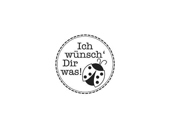 """Mini-Holzstempel """"Ich wünsch' dir was"""""""