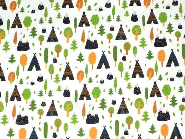 Jersey Stoff - Indianer Wald