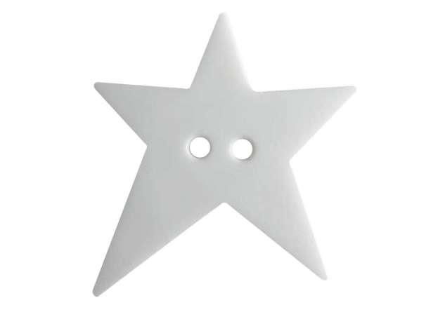Knopf Stern 28mm - weiß