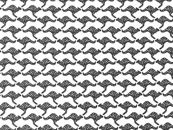 Baumwolle Stoff - Kangaroos White