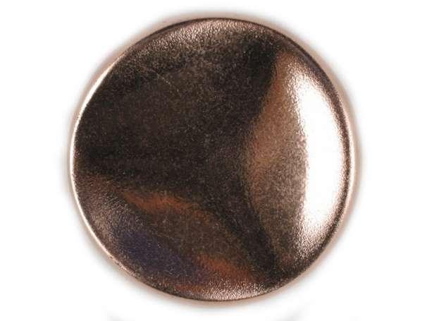 Polyamidknopf mit Öse 18mm - matt kupfer