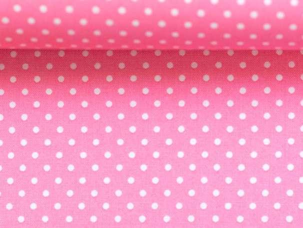 BAUMWOLLE Stoff - Pünktchen - rosa,weiß