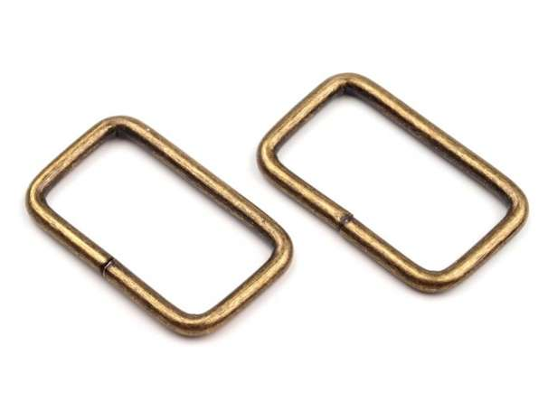 4 Vierkantringe - 25 mm - bronze