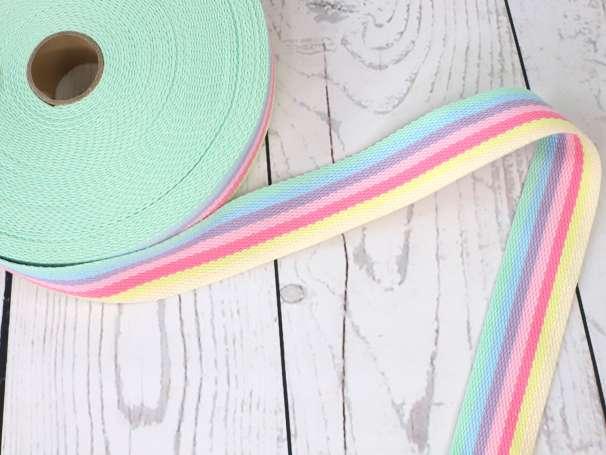 Taschengurtband - 50mm - Regenbogen