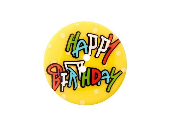 Knopf - 38 mm - Happy Birthday