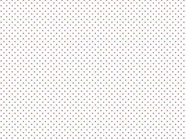 BAUMWOLLE Stoff - Pünktchen - weiß,burgundy