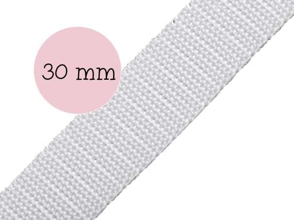 Gurtband - 30mm - weiß