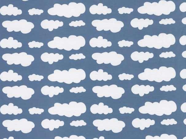 Jersey Stoff - Wolken - rauchblau