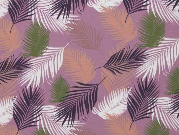 Jersey Stoff - Mandy - Farnblätter, lila