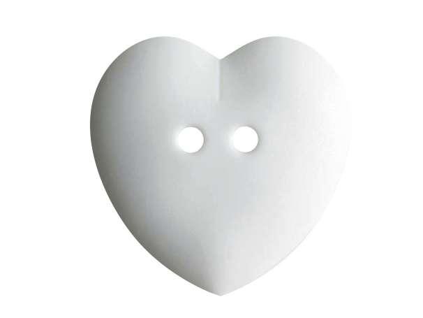 Knopf Herz 23mm - weiß